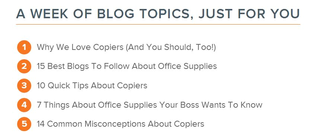 hubpot blog topic generator