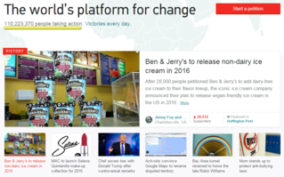 change.com screenshot