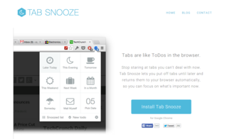 Tab Snooze Screenshot