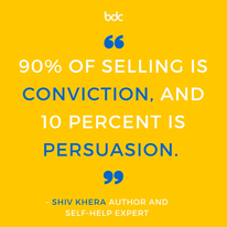 SHIV KHERA quote on sales and sellling