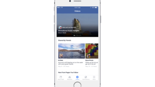 Facebook dedicated video news on iPhone