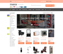 The current Standish Salon Goods homepage