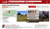 Cedar Crest golf course Yelp listing