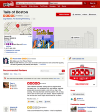 Tails of Boston Yelp listing