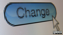 "The word ""change"" on a computer screen with a mouse arrow pointed at it."