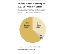 Doubts of security about US economic system pie chart