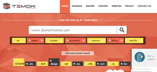 Web hosting site, Temok home page