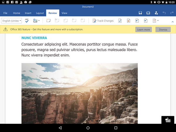 Microsoft Office for Tablets (Android) Review: Is It Good