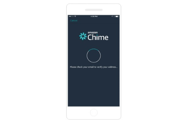 Amazon Chime on a smartphone
