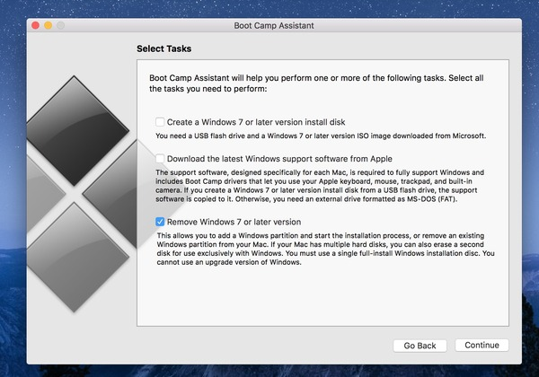 apple boot camp support software