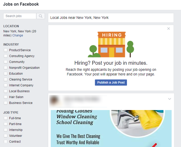 Facebook Jobs Can Help Small Businesses Find Workers