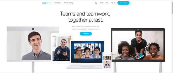 Cisco's WebEx works across desktop and mobile platforms for easy-to-create and conduct meetings.