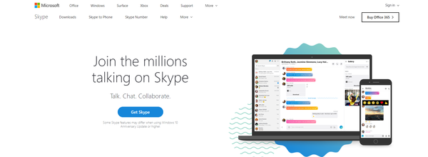Microsoft's Skype is one of the dominant services in web conferencing.