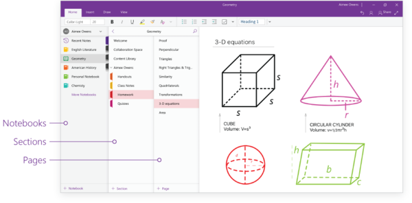 OneNote will see various usability improvements.