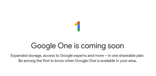 Google announced Google One in May and will soon have it available for all consumers.