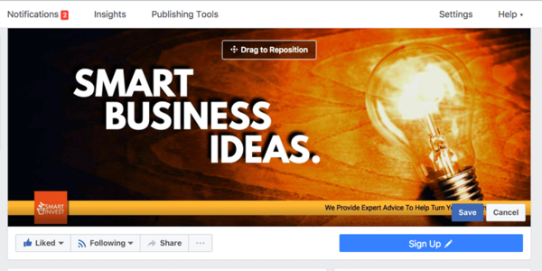 With Snappa, you can easily create a cover for your business's Facebook page.