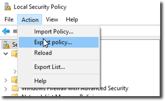 export local group policy windows 10