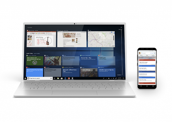 The Windows 10 timeline can connect you to your workflow across devices.