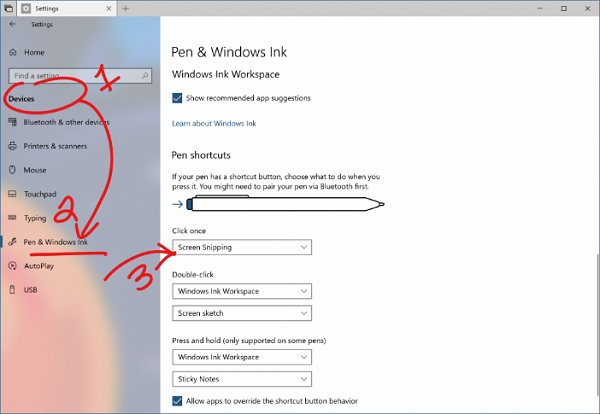 Snipping screenshots and inking them up is another way Windows seeks to implement pen input into the workflow.