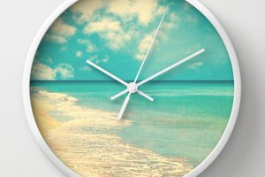 Photography wall clock, office decor