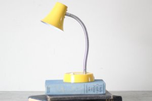 Yellow desk lamp, office decor