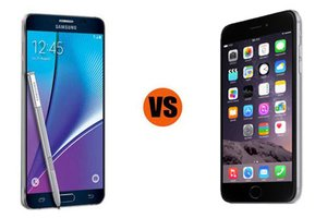 iPhone 6 vs. Galaxy Note 5, business smartphones