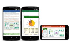 image for The new Android smartphone apps should look familiar to Office veterans. / Credit: Microsoft