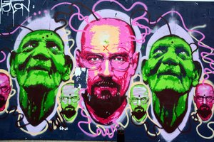 Breaking bad street art, business ideas