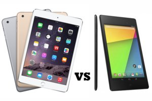 iPad mini 3 vs Nexus 7, tablets