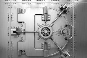 image for Opening a business bank account can be tricky with bad credit. / Credit: Bank vault image via  Shutterstock