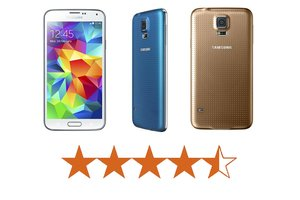 image for The Galaxy S5 earns 4.5 out of 5 stars. / Credit: Samsung
