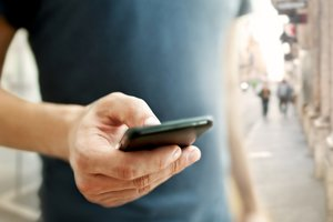 image for Don't just tap your smartphone -- talk to it. / Credit: Shutterstock