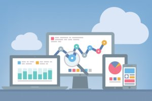 image for Google Analytics lets you track Web traffic, visitor behavior, social media and more. / Credit: Analytics image via Shutterstock