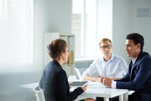 image for Brushing up on basic interview skills is always a good idea.  / Credit: Interview image via Shutterstock