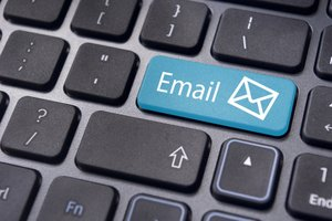 image for Starting with a free email service can afford you the time to let your business grow.  / Credit: Keyboard Image via Shutterstock