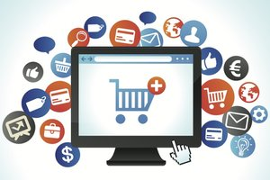 image for E-Commerce websites require shopping cart sofware and often, merchant services accouts. / Credit: e-Commerce image via  Shutterstock