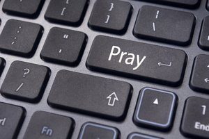 keyboard, pray, social media, religion, job