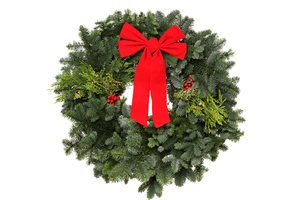 holiday wreath, decorations