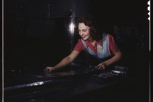 vintage women at work