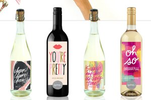 Artful wine bottles ($25)
