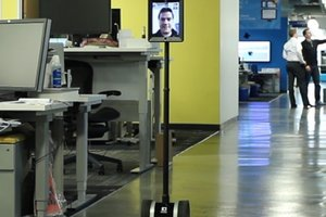 Telepresence robots, smart office technology