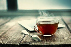 Drinking calming tea like chamomile can help reduce stress at work.