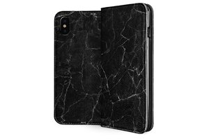 Skinit Black Marble iPhone X Folio Case