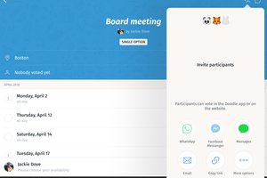 Schedule your meeting: Doodle (free)