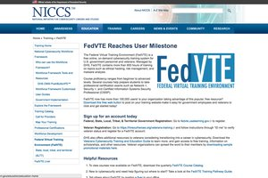 Federal Virtual Training Environment (FedVTE)