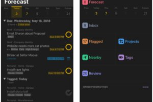 Productivity: OmniFocus 3 (free, with premium version)