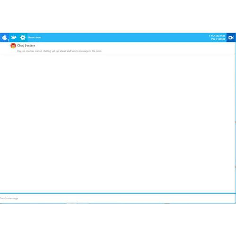 ShowMyPC image: Using the chat tool, you can communicate to the person sitting at the remote computer.