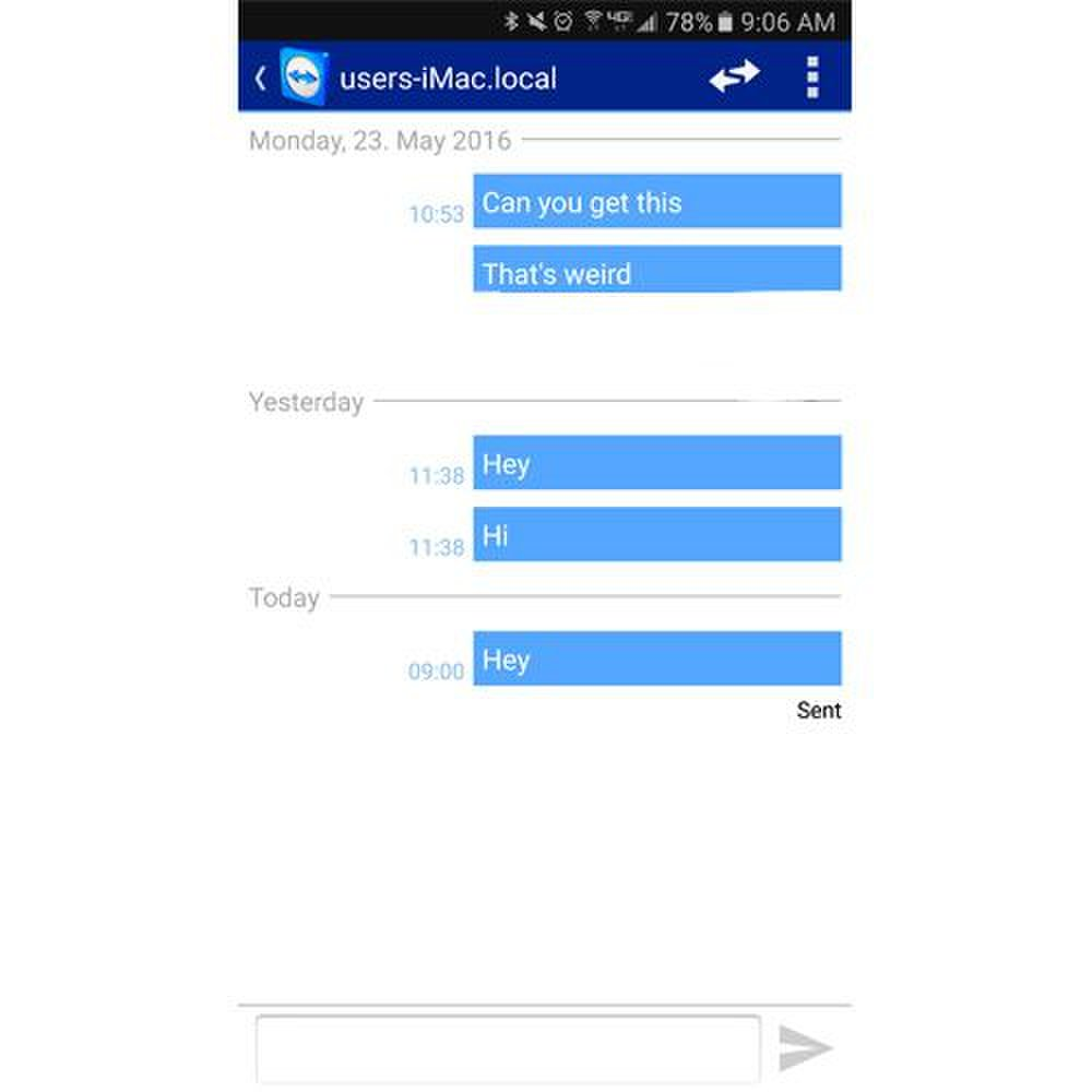 TeamViewer image: The chat tool not only works on PC and Mac versions but also on iOS and Android tablets and smartphones.