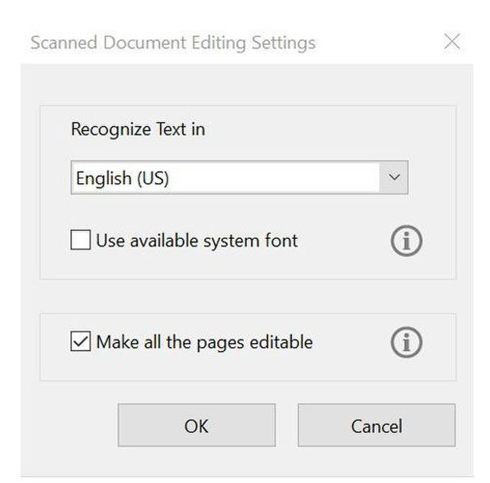Adobe Acrobat image: For international companies, you can adjust the software to recognize the native language the scanned document was prepared in to ensure accurate conversions.