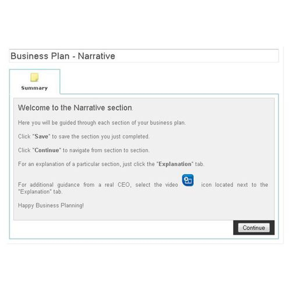 business plan explanation